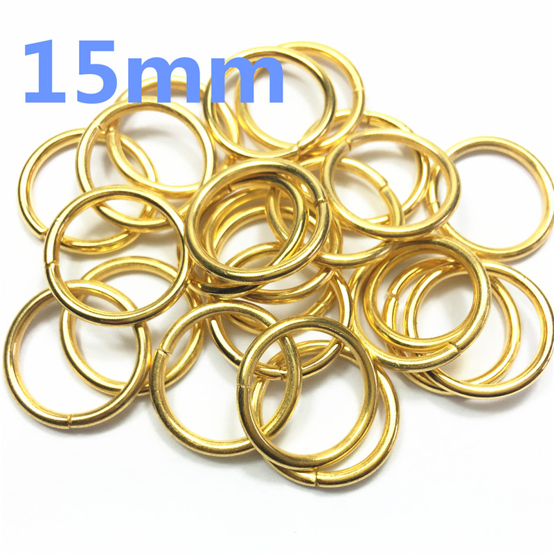 4-  15mm Non Welded Metal O Ring Nickel&Black Nickel Plated Backpack Collar Harness Rings Bag Parts Accessories