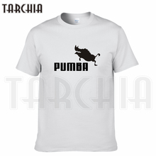 TARCHIA 2017 new brand funny logo pumba t-shirt cotton tops tees men short sleeve boy casual homme tshirt t shirt plus fashion