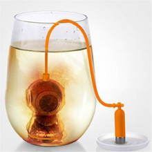 Deep Coffee Tea Infusers Makers Diver Loose Leaf Strainer Bag Mug Filter Kitchen Tea Ball Tools EJ872566(China)