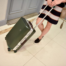 Wholesale!26inch pc hardside case fashion color trolley luggage for male and female ambassor,large capacity safety luggage bags