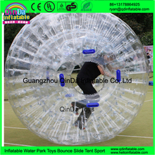 amazing body bubble ball, cheap grass inflatable body zorb ball, pvc inflatable human hamster ball for sale
