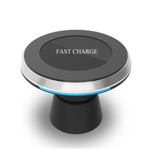 Buy Qi Wireless Charger Car Mount Holder iPhone X 8 Samsung Note 8 S8 S7 Fast Wireless Charging Magnetic Car Phone Holder Stand for $17.93 in AliExpress store
