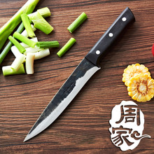Free Shipping ZHOU Forged Kitchen Eviscerate Boning Knife Handmade Cut Meat Vegetable Fish Cooking Knives Chef Slicing Knife(China)