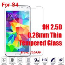 Best New Cheap 9H Hardness Hard 2.5D 0.26mm Phone Accessories Cell Glass Screen Protector For Samsung Galaxy S4 GT I9500
