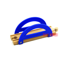 P045 Blue arch bridge is compatible with wooden Thomas the train track for wooden rail cars and electric Thomas game scenario(China)