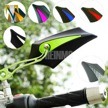 6 Colors Motorcycle foldable Rearview Mirrors Motorbike rear mirror with 8mm 10mm Screw Fit For Honda Suzuki Kawasaki Yamaha