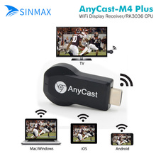 AnyCast M4 Plus Miracast HDMI WIFI Display RK3036 dongleAirplay Receiver Full HD 1080P DLNA chromecast 2 Dongle Adapter TV Stick(China)