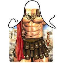 Novelty Cooking Kitchen Apron Roman Warrior Printed Apron Cooking Grilling BBQ Apron(China)