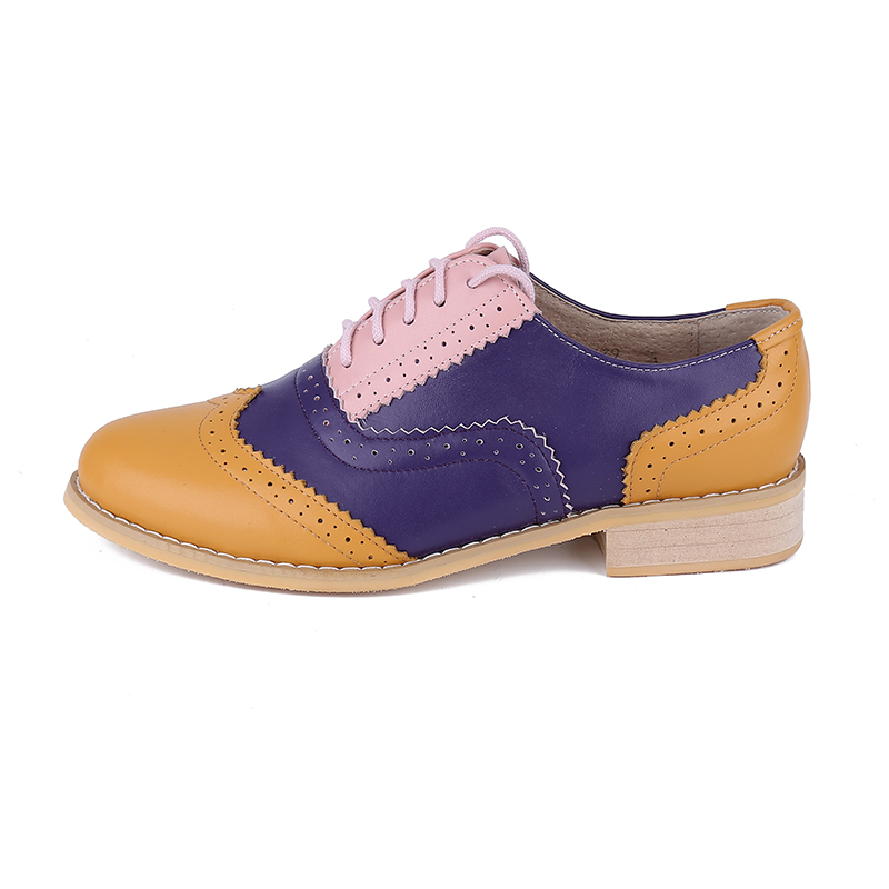 New-Women-s-Genuine-Leather-Oxfords-Vintage-Casual-Single-Shoes-Spring-Autumn-Handmade-Women-Oxford-Shoes
