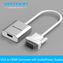 Vention 0.15m VGA to HDMI Converter Cable Adapter with Audio 1080P VGA HDMI Adapter for PC Laptop to HDTV Projector