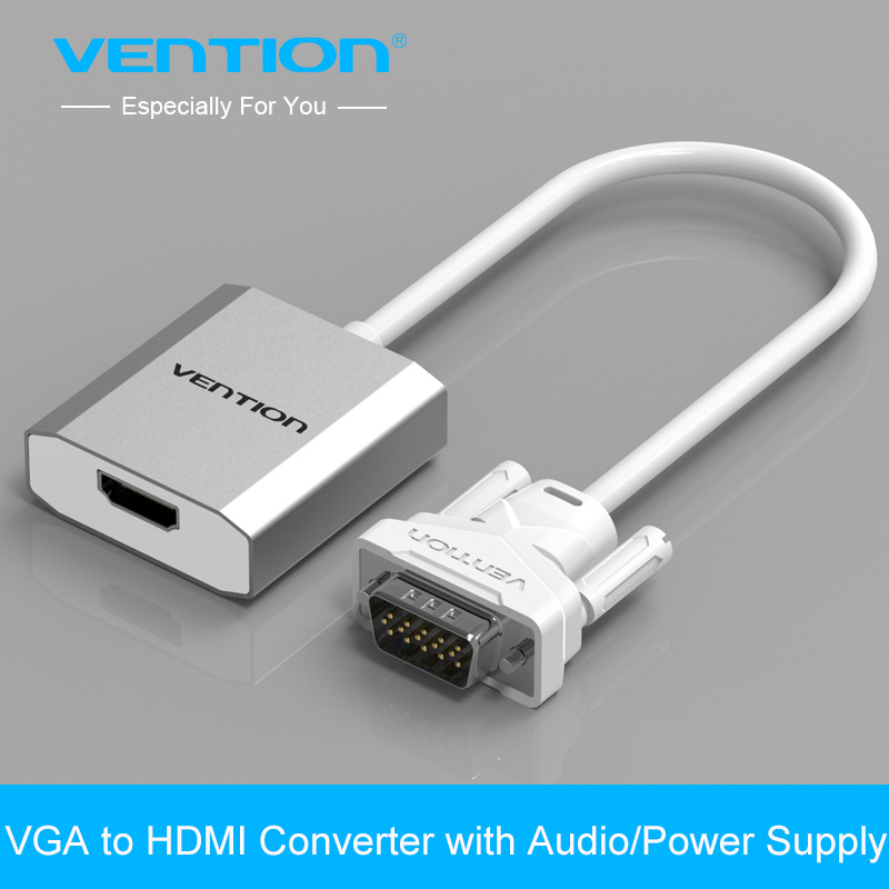 Vention 0.15m VGA to HDMI Converter Cable Adapter with Audio 1080P VGA HDMI Adapter for PC Laptop to HDTV Projector<br><br>Aliexpress
