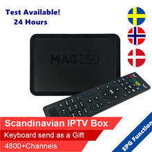 Swedish IPTV MAG 250 iptv box Android Tv Box scandinavian Subscription Europe Spanish UK French ip tv MAG250 Linux iptv decoder(China)