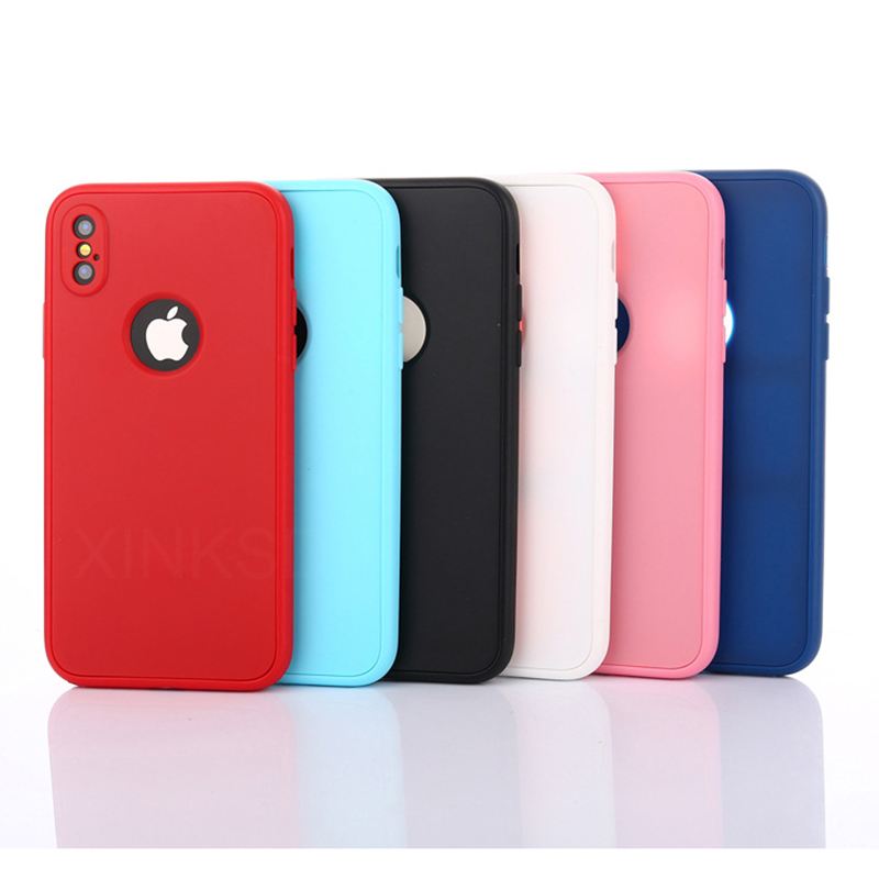 Luxury Soft TPU 360 Full Cover Cases For iPhone 9 X 8 7 6 6S Case 5 5S SE Cover Cases For iPhone 6 7 8 9 Plus case 6.1 6.5 inch (26)
