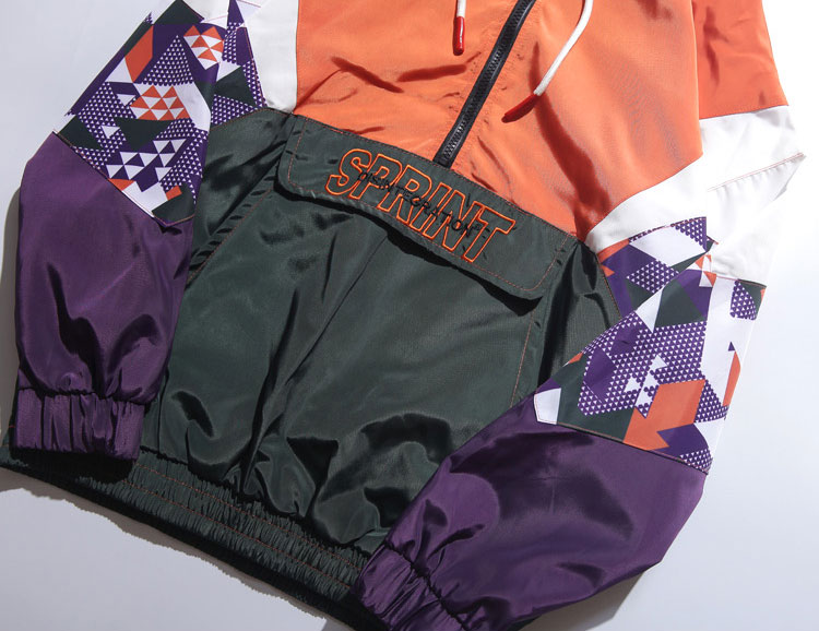 Color Block Patchwork Hooded Jackets 4