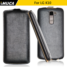 For LG K10 Case Leather Flip Cover iMUCA Luxury Mobile Phone Cases for LG K10 LTE 4G K430 K430ds K430tr K420n K410 Skin Coque