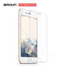 Baixin For iPhone 6 6s Clear Tempered Glass 0.26mm 2.5D Screen Protector for iphone 6 6s 6 s 4.7 inch Protective Film Case Cover(China)