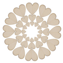 100pcs Rustic DIY Crafts Wood Wooden Love Heart Wedding Table Scatter Decoration good quality