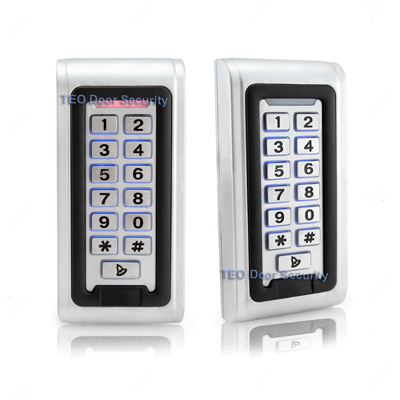IP68 Waterproof Outdoor LED Keypad  Metal Standalone Access Control Wiegand 26 Fast Operating Speed RF Door Access 12V and 24V<br>