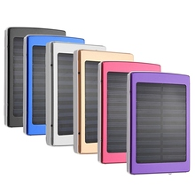 Universal 8000mAh Solar External Battery Charger Power Bank Charging For iPhone For iPad Tablets Smart Phones With Data Cable
