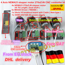 4 Axis CNC Router Kit! 4pcs 1 axis TB6560 driver & interface board & 4pcs Nema23 270 Oz-in stepper motor & 350W Power supply(China)