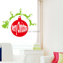 Christmas gift merry christmas sticker for wall decor 2017 new design xmas13 chrismas home decorations vinyl wall decals(China)