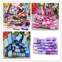 10-40mm Random Mixed Colors Printed Patterns Organza Ribbon Headwear Materials DIY Sewing Accessories 12y/24y,1y/style 040044081
