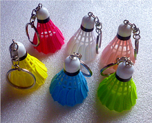 55*40MM Mix color Badminton key chain pendant, creative mobile phone accessories Keychain jewelry accessory sports gift supplies