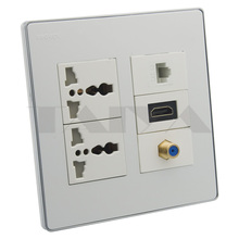 HDMI, RJ45, F TV, 2X Power wall plate support DIY