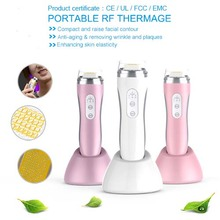Portable rf Radio Frequency Heating Infrared Red Led Light Therapy Anti Wrinkle Blemish Clearing Skin Lightening Beauty Machine(China)