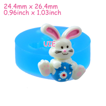 DYL435U 26.4mm Cute Rabbit / Bunny Silicone Mold - Animal Mold Sugarcraft, Fondant, Cake Decoration, Jewelry, Chocolate, Resin