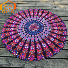 Round Beach Towel Female Shawl Decorated Towels Wall Hanging Bed Manta Yoga Mat Blanket Camping Mattress Sleeping Pad Tapestry
