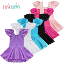 iiniim Kids Girls Tutu Ballet Dance Dress Leotard Child Girls Trainning Stage Performance Fancy Dancewear Costume Dress 2-14Y(China)