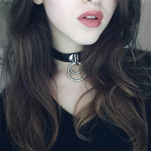Buy Morease Punk Sexy Necklace Neck Double Ring bdsm Bondage Erotic Adult Games Women brinquedos sexo Sex Toys Women