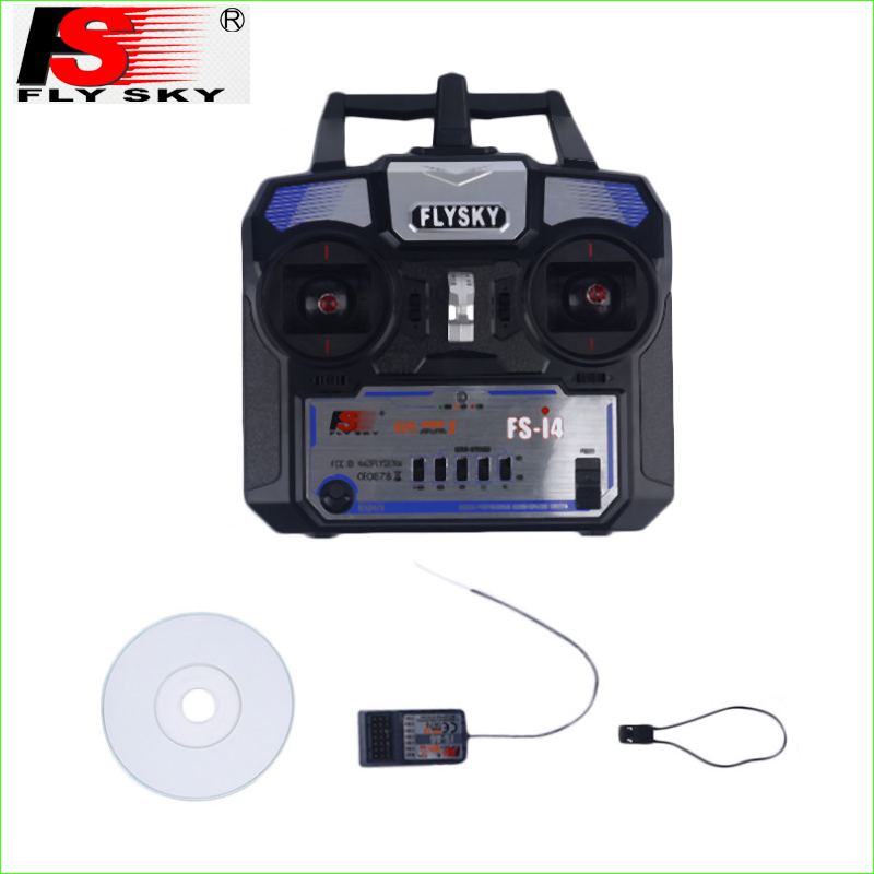 1set FlySky FS-i4 2.4GHz Remote Control A6 Receiver 4 Channels For RC Airplane<br>