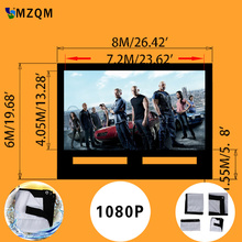 giant size L 8m x H 6 m inflatable movie screen outdoor  inflatable film screen  High quality soft material