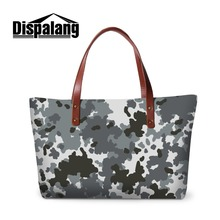 Dispalang Cheap Name Brand Handbag for Women Nice Tote Bag for Girls Camouflage Patterns on Beach Bags Drop Shipping Reticule(China)