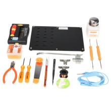 Buy JM-1101 Electronic Maintenance Tool Set Soldering Iron Metal Spudger Pliers Tweezers Digital Devices Multimeter Repair Tools kit for $41.90 in AliExpress store