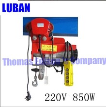 Mini electric hoist 220V household small crane hoist mini electric hoist wire rope hoist PA400 200-400kg 12m indoor lift(China)