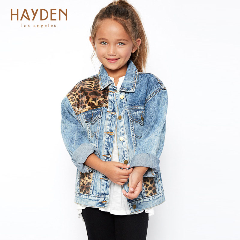 teenage girls winter jackets and outerwear coat autumn 7 9 12 years girls denim clothing kids girl jackets cotton children coat<br>