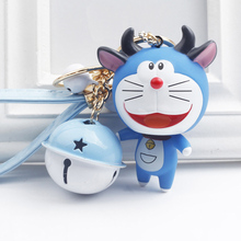New Arrival Super Cute Many Kinds Of Doraemon Key Chain Tinkle Bell Pendant For Bag Charms Ornament Animation Comic Fans Product(China)
