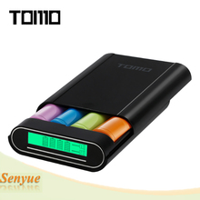 TOMO M4 Dual-use External Mobile Power Bank and 4 x 18650 Li-ion Battery DIY Smart Power Charger with LCD Display Screen