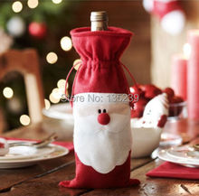 Merry Christmas Santa Wine Bottle Bag Cover Dinner Party Xmas Table Decor - Rustic Wedding store