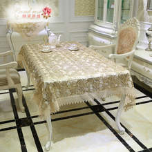 1 Piece Rural Glass Yarn Water Soluble Embroidered Table Cloth/ Lace Table Cloth/ Fashionable Household Adornment Table Cloth