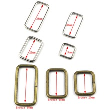10pcs 100pcs Metal Adjustable Rectangle D Ring Belt Ribbon Buckle For Backpacks shoes Bag Cat Dog Collar Buckles DIY Accessories(China)