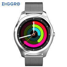 Diggro DI03 Smart Watch Bluetooth 4.0 Heart Rate IP67 Waterproof MTK2502 Siri Call SMS Reminder Pedometer For Android IOS(China)