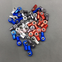 10PCS CNC Aluminum Blue M3 Link Tie Rod End Ball Joint for 1/10 RC Rock Crawler Truck