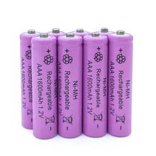 Purple 4XNi-MH 1.2V AAA Rechargeable Battery 1600mAh 3A Neutral Battery Rechargeable battery for toys camera Free Shipping