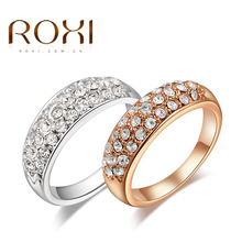 Buy 2017 ROXI Elegant Ring White Crystal Rings Charms Rhinestone Exquisite Jewelry Rose Gold Rings TOP Wholesale for $1.56 in AliExpress store