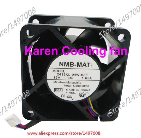 Free Shipping For NMB  2415KL-04W-B86, E0A  DC 12V 1.65A 4-wire 4-pin connector 60mm 60X60X38mm Server Square fan<br>