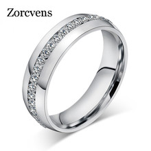 ZORCVENS Vintage Crystal Rings for Women Stainless Steel Jewerly Christmas Gifts(China)